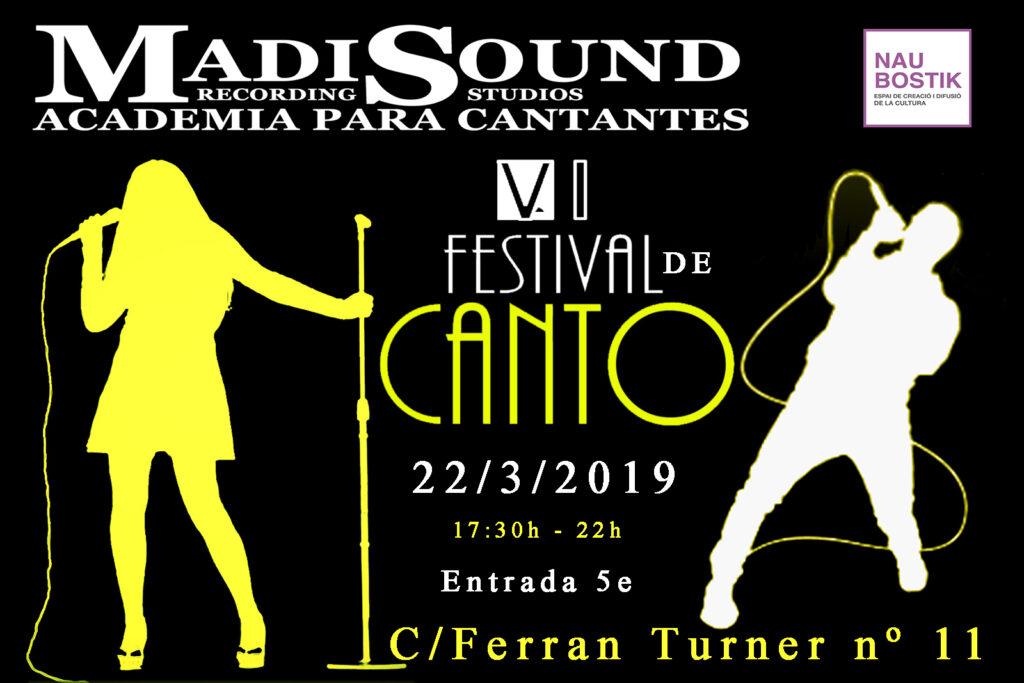 VI Festiva de Canto cartel 22- 3 - 2019